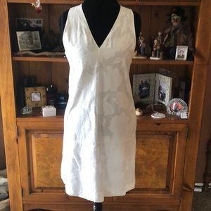 White on White Sleeveless Dress